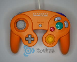 Orange Notched GameCube Controller