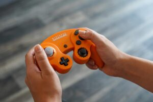 GameCube Notched Orange Spice MultiShine Controllers